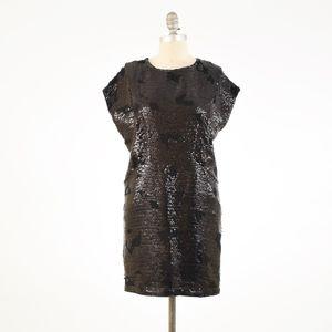 NWOT See by Chloé Black Sequin Mini Tunic Dress